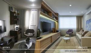 Antes e depois da reforma da casa do cliente